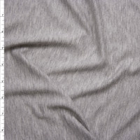 Light Grey Heather Lightweight French Terry Fabric By The Yard