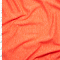 Bright Orange Heather Lightweight French Terry Fabric By The Yard