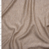 Light Tan Heather Lightweight French Terry Fabric By The Yard