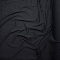 Black Midweight 4-way Stretch French Terry Fabric By The Yard - Wide shot
