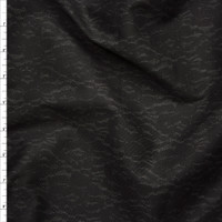 Black on Dark Charcoal Lace Print Cotton Sateen From '7 for All Mankind' Fabric By The Yard