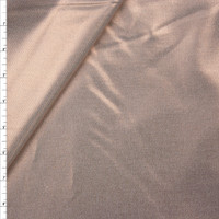 Rose Gold Metallic Overlay on Offwhite Stretch Cotton Twill from '7 for All Mankind' Fabric By The Yard