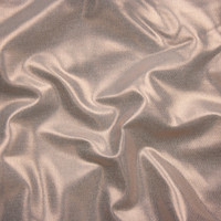 Rose Gold Metallic Overlay on Offwhite Stretch Cotton Twill from '7 for All Mankind' Fabric By The Yard - Wide shot