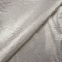 Silver Metallic Overlay on Offwhite Stretch Cotton Twill from '7 for All Mankind' Fabric By The Yard - Wide shot