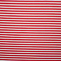 Red and White Narrow Striped Stretch Cotton Twill from '7 for All Mankind' Fabric By The Yard - Wide shot