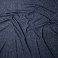 Navy, Black, and Grey Mottled Ribbed Sweater Knit Fabric By The Yard - Wide shot