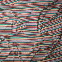 Multi Narrow Stripe Sweater Knit Fabric By The Yard - Wide shot