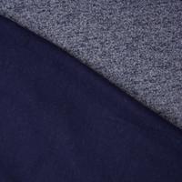 Navy Blue Mottled Midweight Sweatshirt Fleece Fabric By The Yard - Wide shot