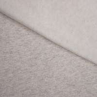 Ivory Grey Heather Midweight Sweatshirt Fleece Fabric By The Yard - Wide shot