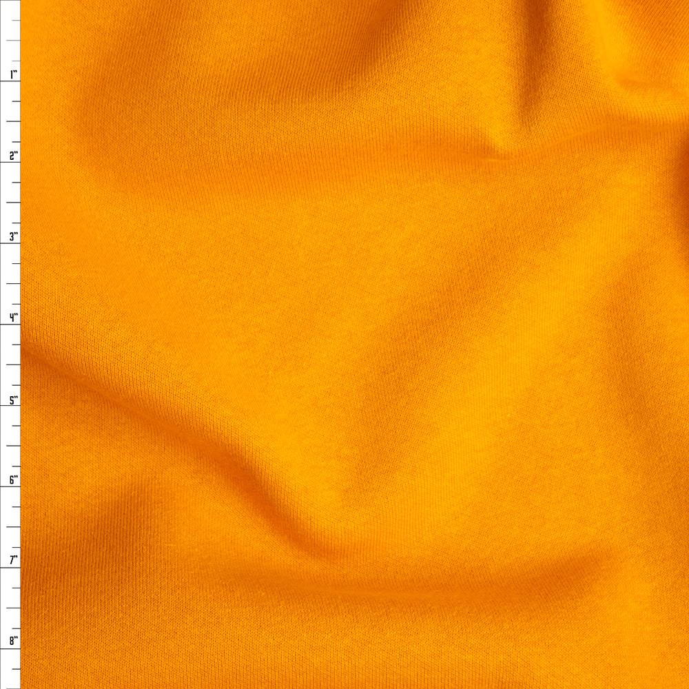 Bright Mango Midweight Sweatshirt Fleece Fabric By The Yard