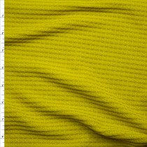 Yellow Green Soft Waffle Sweater Knit  Fabric By The Yard