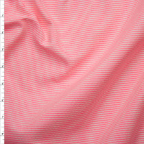 Neon Pink and White Mini Stripe Midweight Seersucker Fabric By The Yard