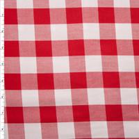 "Red 1"" Carolina Gingham by Robert Kaufman Fabric By The Yard"