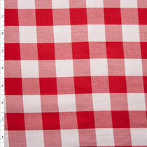 "Red 1"" Carolina Gingham by Robert Kaufman Fabric By The Yard"