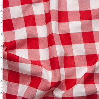 """Red 1"""" Carolina Gingham by Robert Kaufman Fabric By The Yard - Wide shot"""