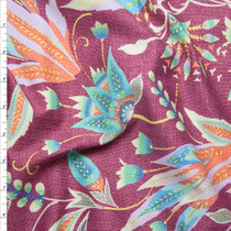 Plum and Aqua Amy Butler 'Tivoli' Glow Sateen   Fabric By The Yard