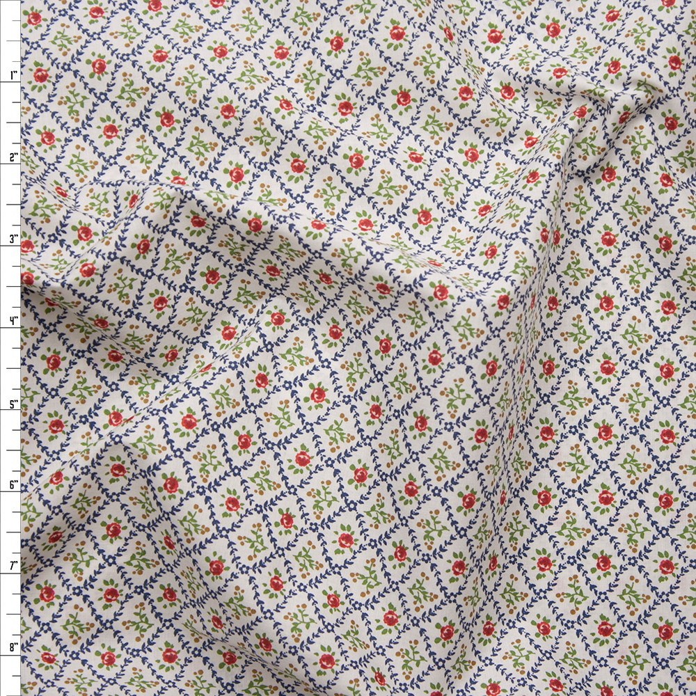 'Vintage' Floral London Calling Cotton Lawn by Robert Kaufman Fabric By The Yard