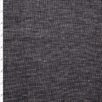 Black Rustic Midweight Cotton/Linen Blend Fabric By The Yard