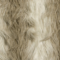Ivory/Brown Llama Luxury Faux Fur