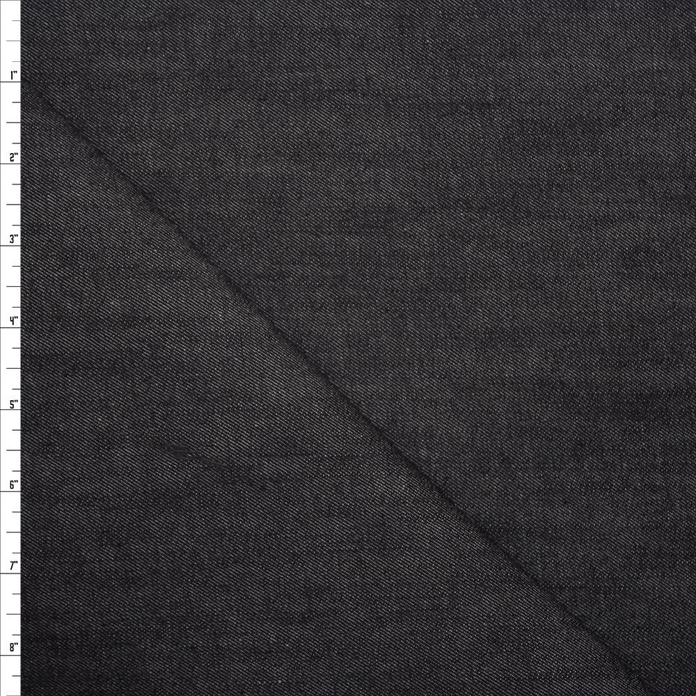 Black 10oz. Stretch Denim by Robert Kaufman Fabric By The Yard