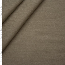Taupe Heavyweight Textured Washed Denim Fabric By The Yard