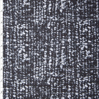 Black and White Grunge Print Cotton Boucle by Robert Kaufman Fabric By The Yard - Wide shot