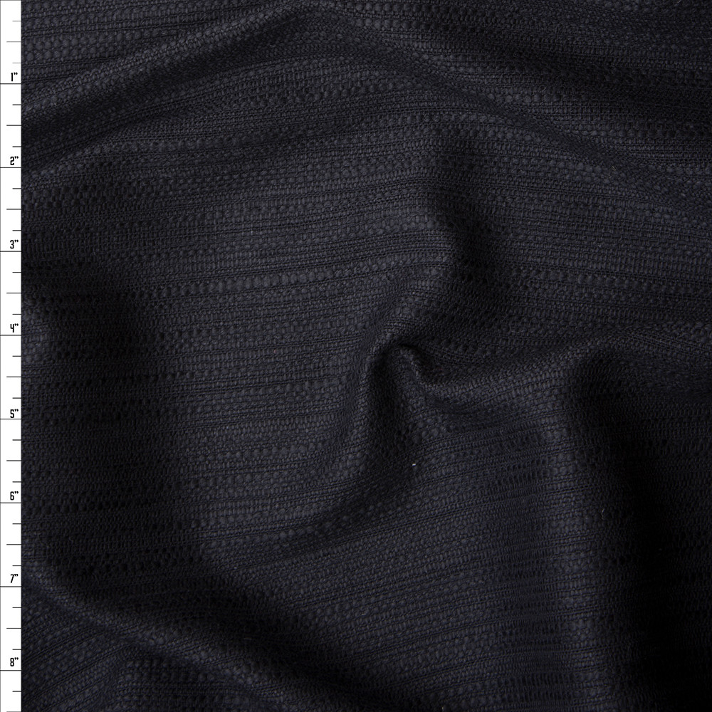 Black Cotton Boucle by Robert Kaufman Fabric By The Yard