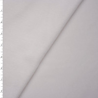 White Lightweight Sweatshirt Fleece Fabric By The Yard