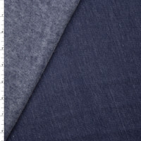 Navy Blue Heather Midweight Sweatshirt Fleece Fabric By The Yard