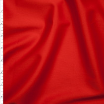 Bright Red Light Midweight Cotton Sateen from 'Ralph Lauren' Fabric By The Yard