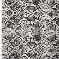 Black and White Snakeskin Print Stretch Cotton Twill from '7 for All Mankind' Fabric By The Yard