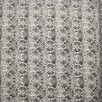 Black and White Snakeskin Print Stretch Cotton Twill from '7 for All Mankind' Fabric By The Yard - Wide shot