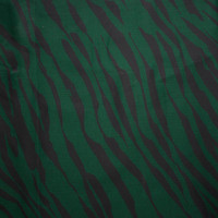 Black and Deep Emerald Green Brushstroke Zebra Print Stretch Twill from 'Hudson Jeans' Fabric By The Yard - Wide shot