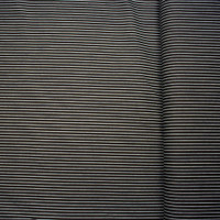 White on Black Vertical Pinstripe Stretch Twill from 'Hudson Jeans' Fabric By The Yard - Wide shot