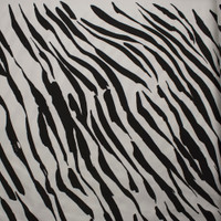 Black and White Brushstroke Zebra Print Stretch Twill from 'Hudson Jeans' Fabric By The Yard - Wide shot
