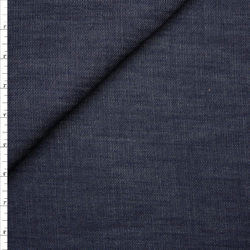 Designer Indigo 12oz Stretch Denim Fabric By The Yard