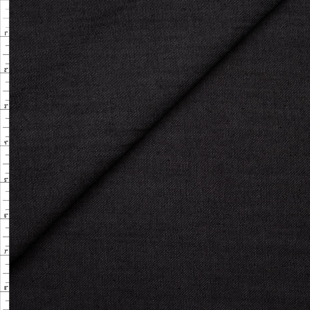 Textured Designer 8oz Dark Indigo Stretch Denim Fabric By The Yard