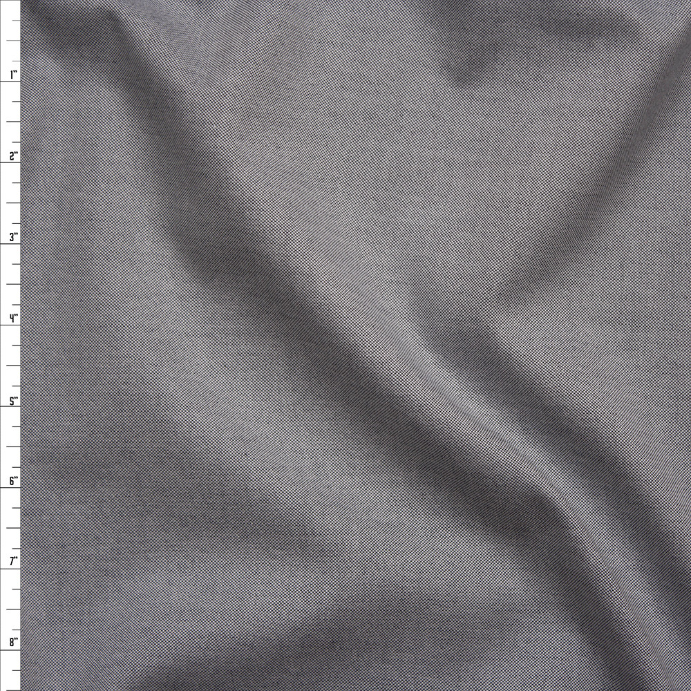 Light Grey Designer Oxford Cotton Fabric By The Yard