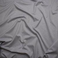 Light Grey Designer Oxford Cotton Fabric By The Yard - Wide shot