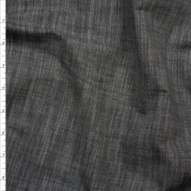Dark Grey Textured Soft Chambray Fabric By The Yard