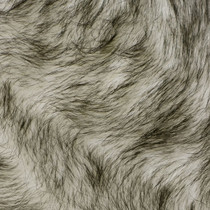 White/Black Husky Luxury Faux Fur