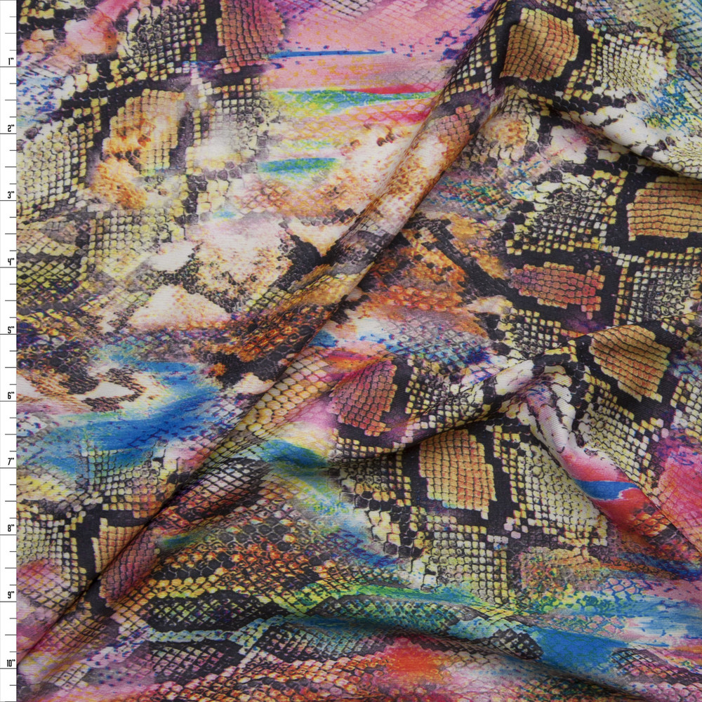 Snakeskin Kaleidoscope 2-way Stretch Nylon/Lycra Knit Fabric By The Yard