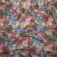 Snakeskin Kaleidoscope 2-way Stretch Nylon/Lycra Knit Fabric By The Yard - Wide shot