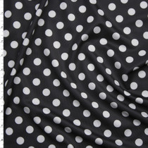 White on Black Polka Dot Stretch Nylon/Lycra Fabric By The Yard