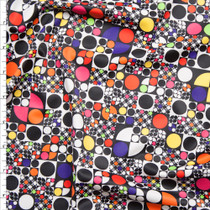 Multi Color Retro Geometric Spandex Print Fabric By The Yard