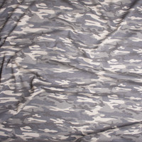 Muted Desert Camouflage Midweight Cotton Jersey Knit Fabric By The Yard - Wide shot