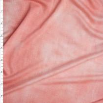 Peach Tie Dye Stretch Rayon Jersey Knit Fabric By The Yard