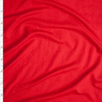 Fire Red Lightweight Double Brushed Poly Spandex Fabric By The Yard