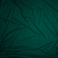 Emerald Green Double Brushed Poly Spandex Fabric By The Yard - Wide shot