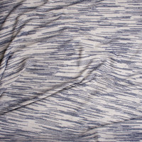 Denim Blue and Offwhite Textured Midweight Sweater Knit from 'Sol Angeles' Fabric By The Yard - Wide shot